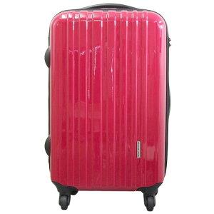 キャリーバッグ スーツケース スリムでスタイリッシュなつやつや、キャリーケース 使えるバッグ まるでフレームタイプの様な剛性感!!TSAロック付ポリカーボネートキャリーバッグ M レ