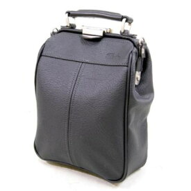 肩掛け 鞄 バッグ 小物 の整理に重宝するポケット類も充実 使えるバッグ 本革付属 織人ダレス縦型ショルダーバッグ ブラック