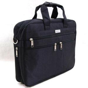 ビジネスバッグ メンズバッグ 移動の際に便利なショルダーベルト付属 使えるバッグ いざと言う時のマチ調整付 UR前3ポケット底Wビジネスカジュアルバッグ ブラック