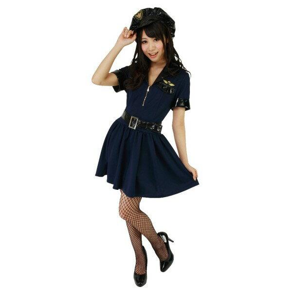 ポリス 大人 コスプレ衣装 エナメルのベルトがポイント コスプレ ハロウィン 仮装 ハロイン halloween costume ハローウィン コスチューム 衣装 帽子