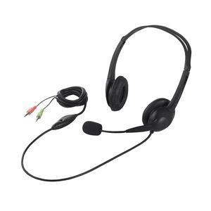 イヤホン・ヘッドホン 関連商品 ヘッドセット 両耳ヘッドバンド式 半密閉タイプ ノイズ低減 ブラック