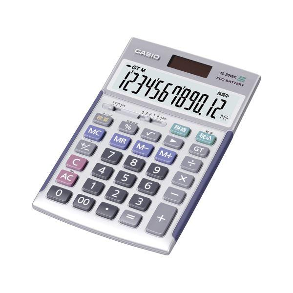 文具・オフィス用品 カシオ(CASIO) 電卓 12桁 JS-20WK 1台