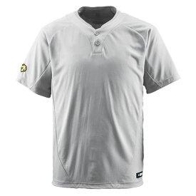 スポーツ・アウトドア 野球・ソフトボール ウェア 関連 デサント(DESCENTE) ベースボールシャツ(2ボタン) (野球) DB201 シルバー O