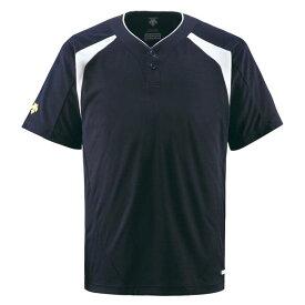 スポーツ・アウトドア 野球・ソフトボール ウェア 関連 デサント(DESCENTE) ベースボールシャツ(2ボタン) (野球) DB205 Dネイビー S