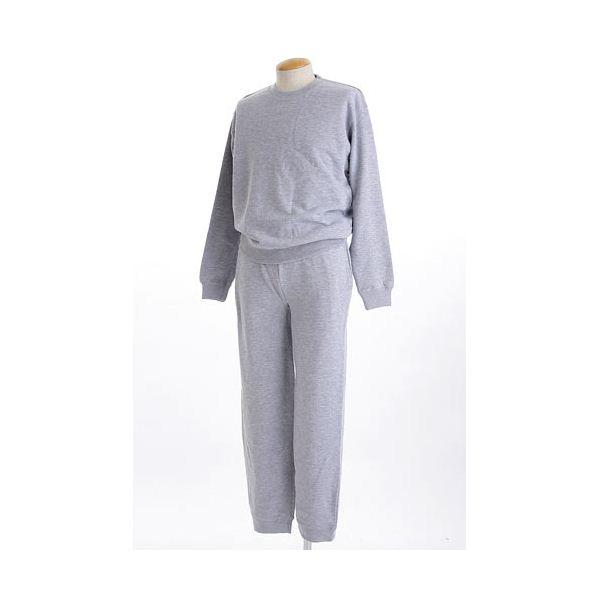 ファッション 裏パイルスウェット上下SET ミックスグレー XLサイズ