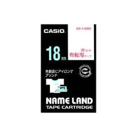 文具・オフィス用品 (まとめ買い)カシオ CASIO 布転写テープ XR-118RD 赤文字で転写 18mm 【×3セット】