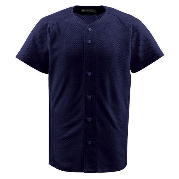 スポーツ・レジャー デサント(DESCENTE) ジュニアフルオープンシャツ (野球) JDB1010 ネイビー 150