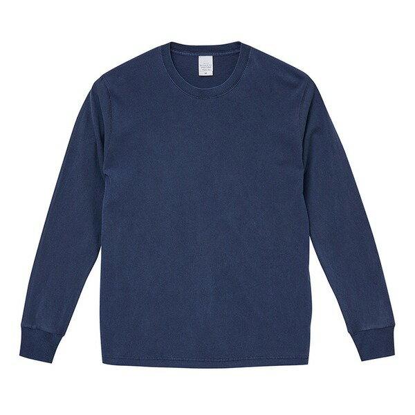 トップス 関連商品 ピグメントダイロングスリーブ5.6オンス長袖Tシャツ ビンテージネイビー XL