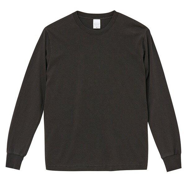 ヴィンテージシャツ 関連商品 ピグメントダイロングスリーブ5.6オンス長袖Tシャツ ビンテージブラックー L