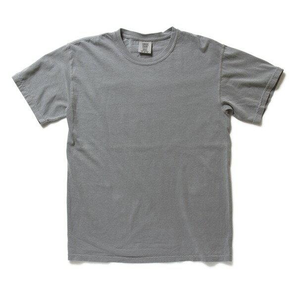 トップス 関連商品 50回ウォツシュ加工ガーメント後染め6.2オンスヘビーウェイトTシャツ グレー XL