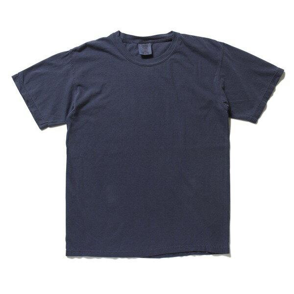 トップス 関連商品 50回ウォツシュ加工ガーメント後染め6.2オンスヘビーウェイトTシャツ ネイビー S