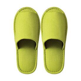 生活用品・インテリア・雑貨 (まとめ) TANOSEE 外縫いスリッパ ラドクリフ グリーン 1足 【×5セット】