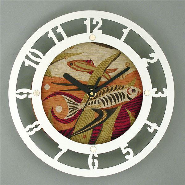 便利 日用雑貨 (まとめ買い)メタリック時計 ウッドシートセット 【×5セット】