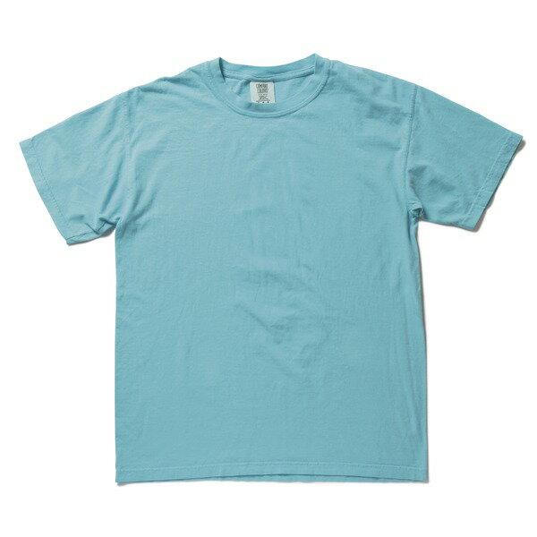 トップス 関連商品 50回ウォツシュ加工ガーメント後染め6.2オンスヘビーウェイトTシャツ ラグンブルー L