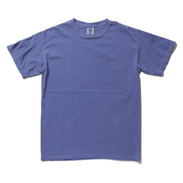 半袖Tシャツ 関連商品 50回ウォツシュ加工ガーメント後染め6.2オンスヘビーウェイトTシャツ フローブルー XL