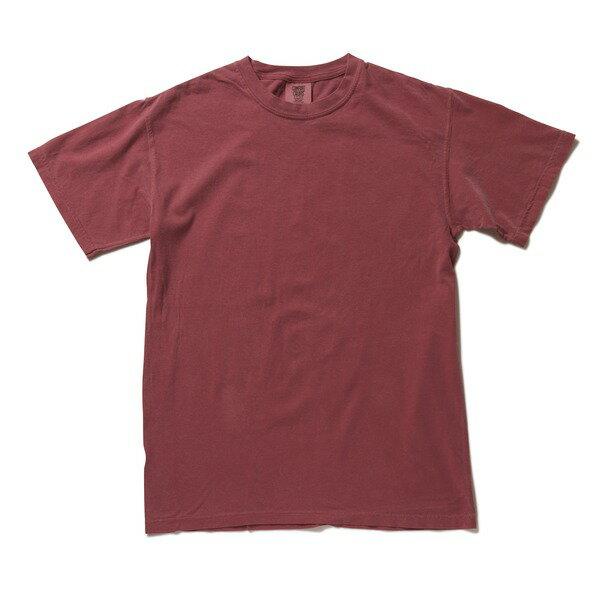 トップス 関連商品 50回ウォツシュ加工ガーメント後染め6.2オンスヘビーウェイトTシャツ クリムゾン L