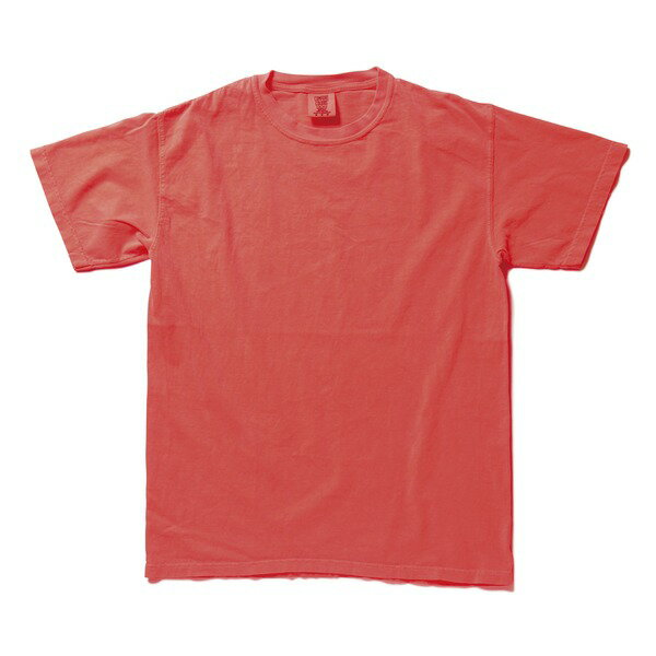 トップス 関連商品 50回ウォツシュ加工ガーメント後染め6.2オンスヘビーウェイトTシャツ ネオンレッドオレンジ S