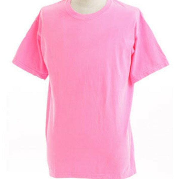 トップス 関連商品 50回ウォツシュ加工ガーメント後染め6.2オンスヘビーウェイトTシャツ ネオンピンク XL