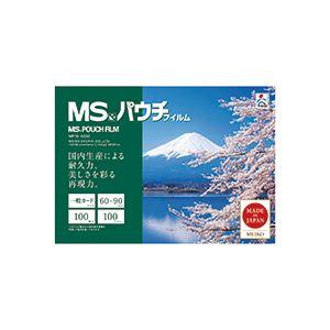 生活家電 (まとめ) 明光商会 MSパウチフィルム 一般カード用 100μ MPF100-6090 1パック(100枚) 【×5セット】