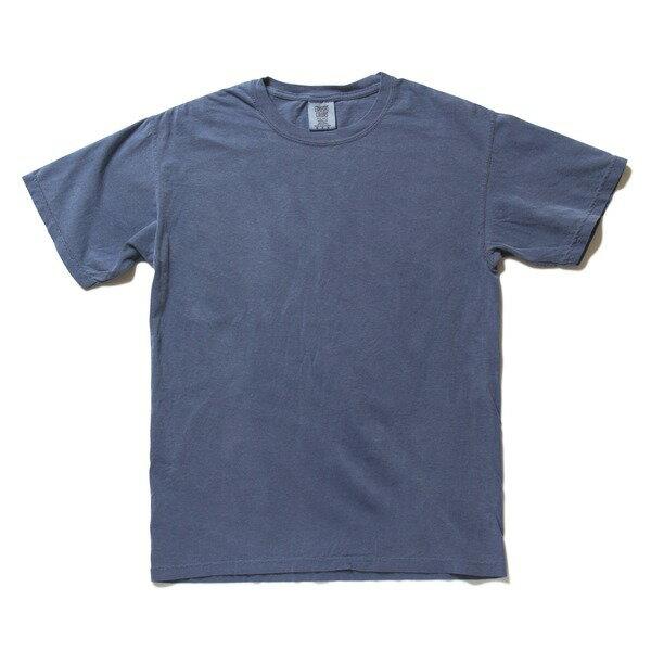 トップス 関連商品 50回ウォツシュ加工ガーメント後染め6.2オンスヘビーウェイトTシャツ ブルージーン S