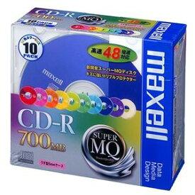 (まとめ) マクセル データ用CD-R 700MB 48倍速 10色カラーMIX 5mmスリムケース CDR700S.MIX1P10S 1パック(10枚) 【×5セット】