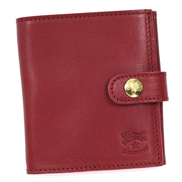 財布 関連商品 IL BISONTE(イルビゾンテ )二つ折り財布(小銭入れ付) C0955 245 ROSSO RUBINO
