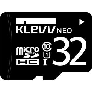 USBメモリ・SDカード・メモリカード・フラッシュ関連 ESSENCORE KLevv microSDHCメモリーカード 32GB Class10 UHS-I U1SDアダプター付
