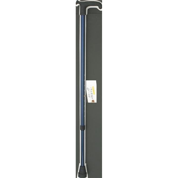 日用雑貨 ケイ・ホスピア ステッキ(伸縮) リハビリ杖 OS-12 メタリックブルー OS-12