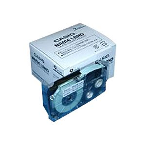 AV・デジモノ (業務用セット) カシオ ネームランド用テープカートリッジ スタンダードテープ 8m 5巻入 XR-9WE-5P-E 白 黒文字 【×2セット】