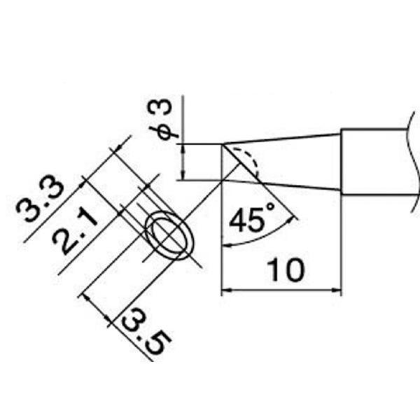 DIY・工具 関連商品 白光 T12-BCM3 こて先/3BC型溝付