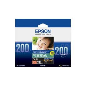 パソコン PCサプライ・消耗品 コピー用紙・印刷用紙 コピー用紙 関連 (まとめ) エプソン EPSON 写真用紙<光沢> L判 KL200PSKR 1箱(200枚) 【×3セット】