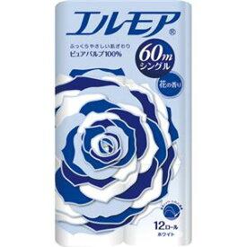 生活用品・インテリア・雑貨 (まとめ) カミ商事 エルモア 花の香り シングル 芯あり 60m 1パック(12ロール) 【×10セット】
