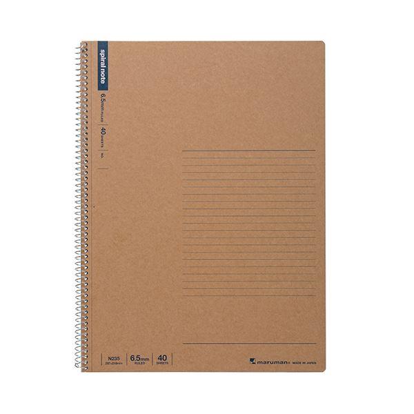 ノート・紙製品関連 (まとめ) マルマン スパイラルノート A46.5mm罫 40枚 N235 1冊 【×30セット】