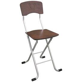 生活 雑貨 通販 折りたたみ椅子 【2脚セット ダークブラウン×シルバー】 幅40cm 日本製 スチールパイプ 『レイラチェア』【代引不可】