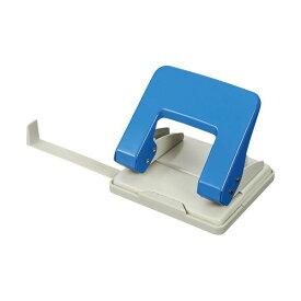 パンチ関連 (まとめ) TANOSEE 2穴パンチ 20枚穿孔ブルー 1台 【×10セット】