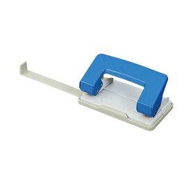 パンチ関連 (まとめ) TANOSEE 2穴パンチ 10枚穿孔ブルー 1台 【×30セット】