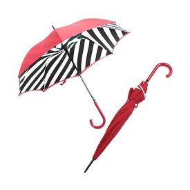 生活 雑貨 通販 Fulton(フルトン) L723 023884 Bloomsbury-2 Diagonal Stripe 「Lulu Guinness」ルルギネス コラボモデル ワンタッチ ジャンプ傘 自動開き 長傘 2重構造 ブルームズバリー アンブレラ【代引不可】