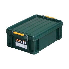 収納用品関連 (まとめ) アステージ STボックス DKグリーン#13 ST-13DGL 1個 【×5セット】