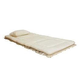 すのこベッド 折りたたみ 使わない時は、折りたたみ が可能。 便利 生活 ロール式抗菌樹脂すのこベッド(完成品) アイボリー