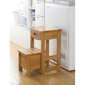 踏み台 ステップ 使わない時は、コンパクト に! 家具 便利収納 木製踏み台