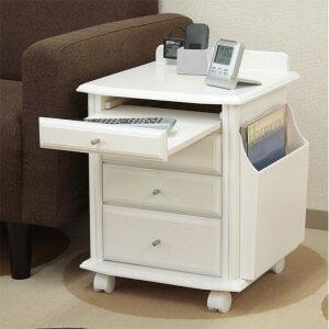サイドテーブル 木製 マガジンラック は取り外せます。 暮らしと生活 天然木ベッドサイドテーブル ホワイト
