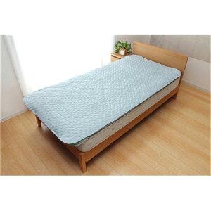 寝具 冷却マット 抗菌防臭綿 洗える冷感敷きパッド ガリガリ君プラス サイズ:シングル 100×205cm