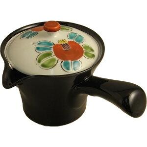 急須 おしゃれ 細かい茶葉が詰まりにくい こだわりの 有田焼 黒釉椿 楽らく急須 M160