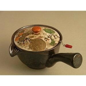 急須 陶器/ステンレス キレの良い注ぎ口 こだわり 有田焼 粉引ぶどう すりすり急須(すり棒付)