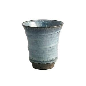 湯呑み/コップ/カップ 陶器 生活 有田焼 アースブルー 反湯呑