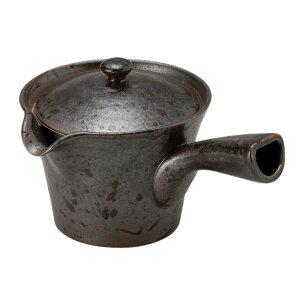 急須 陶器/ステンレス 機能と美しさをかねそなえた、急須 ラクラク 有田焼 黒釉 楽らく急須 大