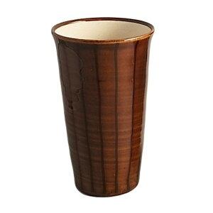 ビールグラス ビアカップ モダン モダン 有田焼 飴釉十草 ビアカップ (茶)