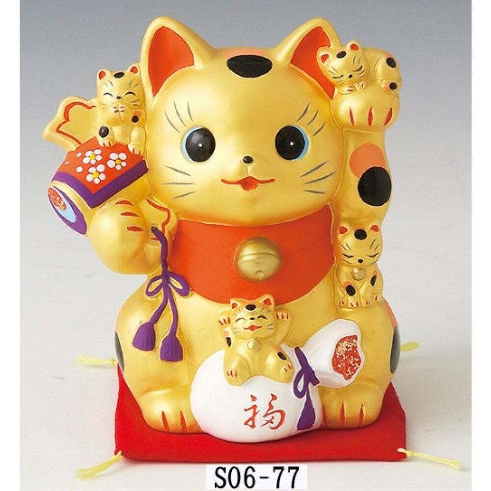Piggy bank まねき猫 置物 金運猫づくし 招き猫 貯金箱