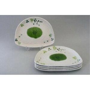 陶器 皿 円皿 耐熱 山ぶどう 半月多用皿揃 (5枚セット) 取り皿 丸皿