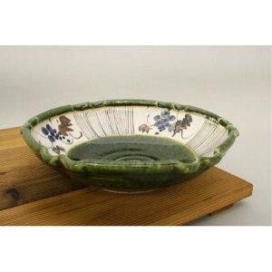 和食器 和皿 楕円 織部ぶどう 預け鉢 美濃焼の武山窯 大鉢 盛鉢 大皿